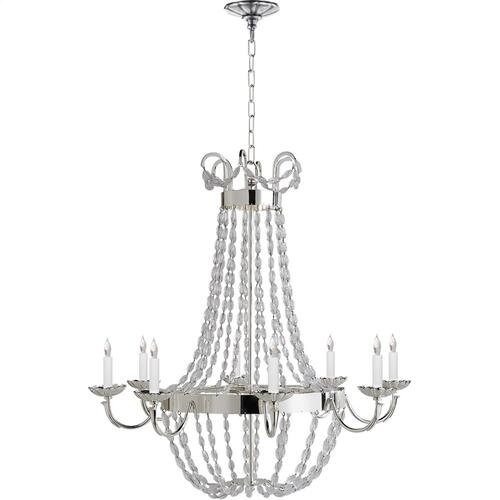 Visual Comfort CHC1408PS-SG E F Chapman Paris Flea Market 8 Light 32 inch Polished Silver Chandelier Ceiling Light