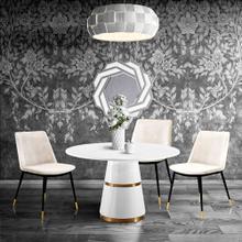 View Product - Evora Cream Velvet Chair - Gold Legs (Set of 2)