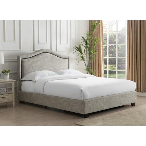 Grayling Platform Bed - Queen, Sandstone