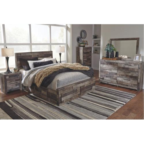 Derekson Queen Panel Bed With 4 Storage Drawers