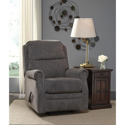 Signature Design by Ashley Earles Rocker Recliner in Flannel Fabric