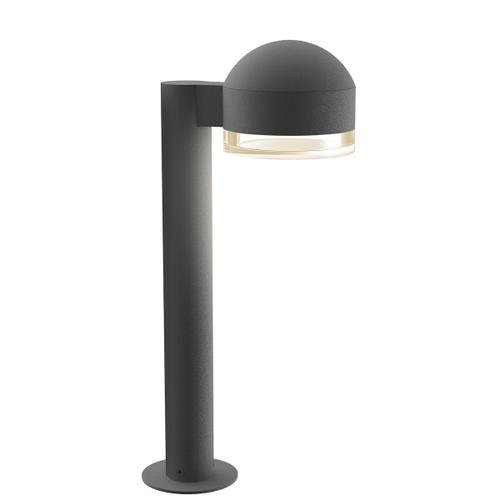"""Sonneman - A Way of Light - REALS® LED Bollard [Size=16"""", Color/Finish=Textured Gray, Lens Type=Dome Cap and Clear Cylinder Lens]"""
