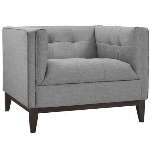 Serve Living Room Set Set of 2 in Light Gray