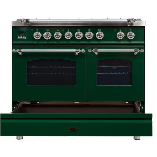 40 Inch Emerald Green Dual Fuel Liquid Propane Freestanding Range