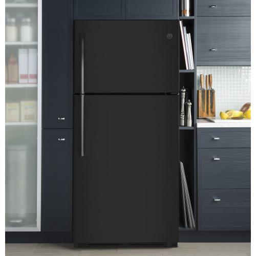 GE Appliances - GE® 18.2 Cu. Ft. Top-Freezer Refrigerator