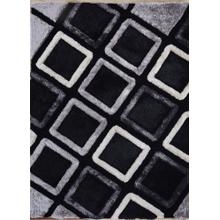 See Details - Soft Three Dimensional Polyester Viscose Hand Tufted 3D 316 Shag Area Rug by Rug Factory Plus - 2' x 3' / Gray