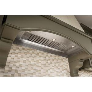 "43-7/16"" Stainless Steel Built-In Range Hood for use with External Blower Options 300 to 1650 Max CFM"