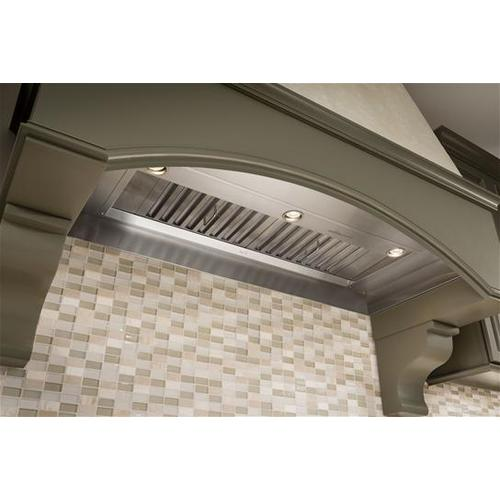 """43-7/16"""" Stainless Steel Built-In Range Hood for use with External Blower Options 300 to 1650 Max CFM"""