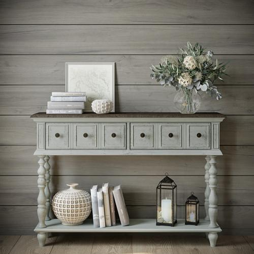 Montauk Two Toned Weathered Console Table