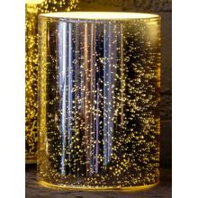 "4"" Gold Shimmer LED Candle"