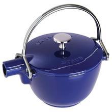 Staub Cast Iron 1-qt Round Tea Kettle, Dark Blue