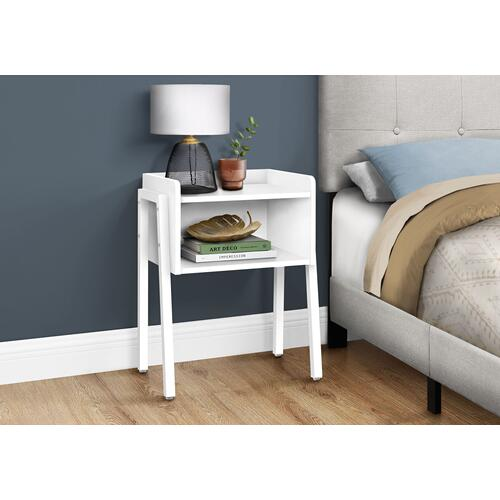 """Gallery - ACCENT TABLE - 23""""H / WHITE / WHITE METAL"""