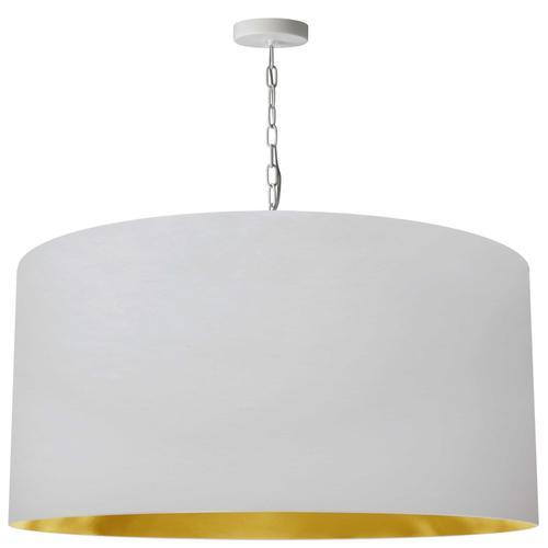 Product Image - 1lt Braxton X-large Pendant, Wht/gld Shade, Wht