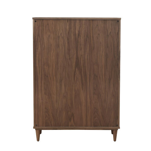 Mid Century Five Drawer Chest in Walnut - KD (Carton 1 of 2)