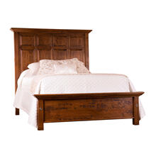 Tall Panel Bed with Shortened Footboard