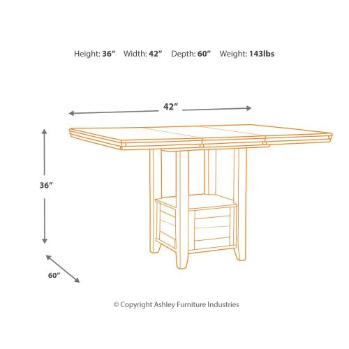 Flaybern Counter Height Dining Table