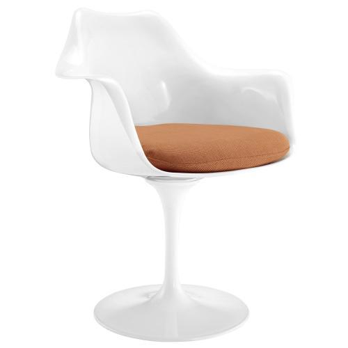 Lippa Dining Fabric Armchair in Orange