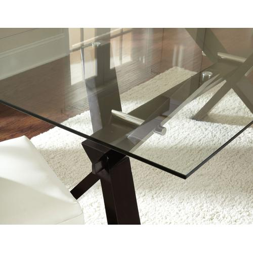 Berkley 72 inch Glass Top Table