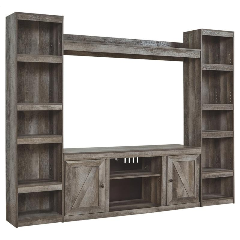 View Product - Wynnlow 4-piece Entertainment Center