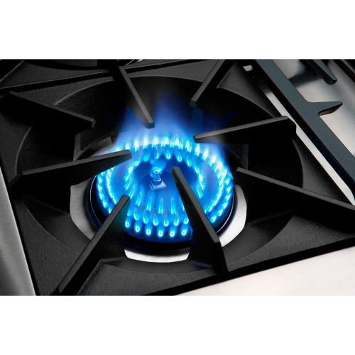 """36"""" Gas Self Clean Range, Rotisserie, 4 Open Burners, 12"""" Briol Burner"""