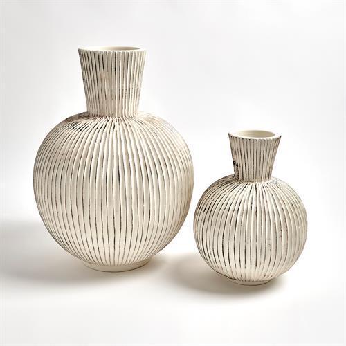 Furrow Sphere Vase-Sm