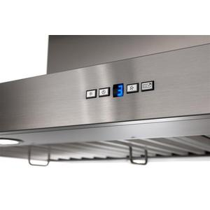 "IPB9 48"" x 27"" Stainless Steel Island Range Hood with a choice of External or In-line blowers"