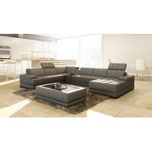 Divani Casa 5105 Modern Bonded Leather Sectional Sofa w/ Audio System