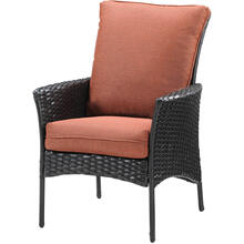 Set of 2 Strathmere Allure Woven Dining Chairs with Cushions, 140-D2