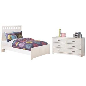 Full Panel Bed With Dresser