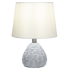 Greywash Leaf Embossed Accent Lamp. 40W Max.