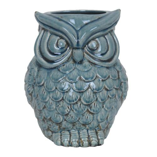 Crestview Collections - Soft Blue Owl Container