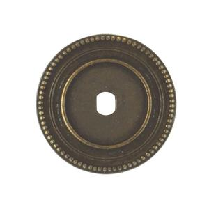"""Furniture Hardware Backplate 1.73"""" DIA. in Windover Antique Product Image"""