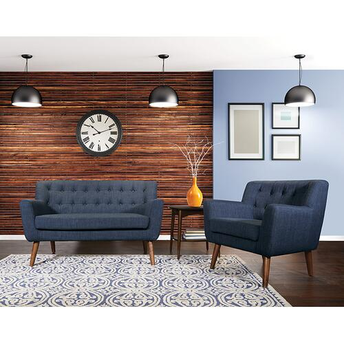 Mill Lane Mid-century Modern Tufted Armchair