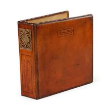 3 ring leather binder (A4)