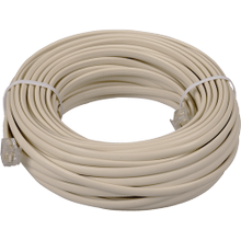See Details - 50 Foot Phone Line Cords with Connectors in Ivory Color