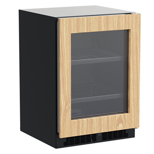 24-In Built-In Beverage Center With 3-In-1 Convertible Shelves with Door Style - Panel Ready Frame Glass