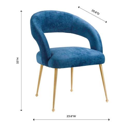 Rocco Slub Navy Dining Chair