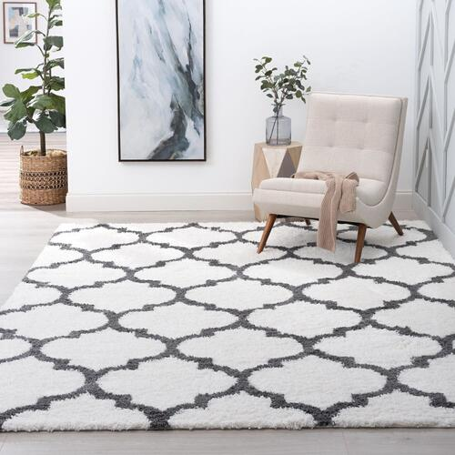 Jersey Shag - JRS1300 White Rug
