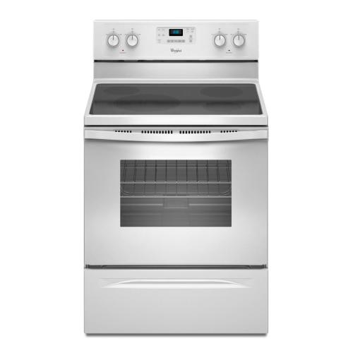 Whirlpool - REFURBISHED 5.3 cu. ft. Capacity Electric Range with SteamClean. (This is a Stock Photo, actual unit (s) appearance may contain cosmetic blemishes.  Please call store if you would like actual pictures).  This unit carries our 6 month warranty, MANUFACTURER WARRANTY and REBATE NOT VALID with this item. ISI 42489