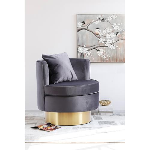"Kendra Velvet Accent Chair - 29"" W x 29"" D x 29"" H"