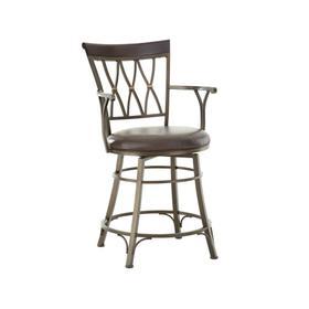 Bali Jumbo Swivel Counter Chair with Armrest