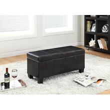 7075 BLACK PU Storage Bench