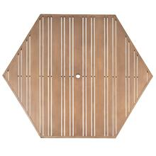 "Tri-Slat 60"" Hexagonal Top"