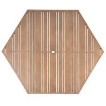 "Tri-Slat 60"" Hexagonal Top"