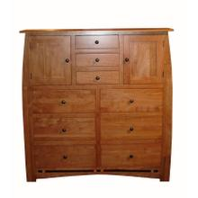 Nine Drawer Chest - 52W x 22D x 56H - Two Doors