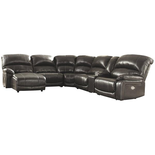 See Details - Hallstrung 6-piece Power Reclining Sectional With Chaise