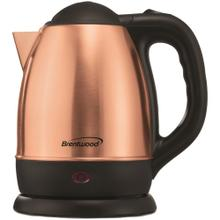 See Details - 1.2-Liter Stainless Steel Cordless Electric Kettle (Rose Gold)