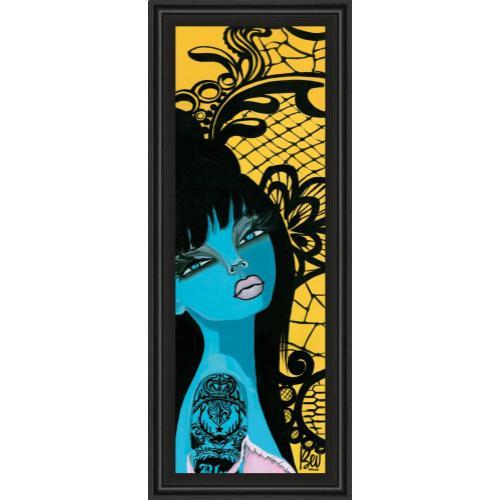 "Classy Art - ""Ink Chiffon I"" By Bev Hogue Framed Print Wall Art"