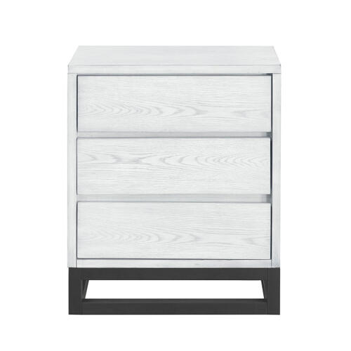 Accentrics Home - White Industrial Nightstand