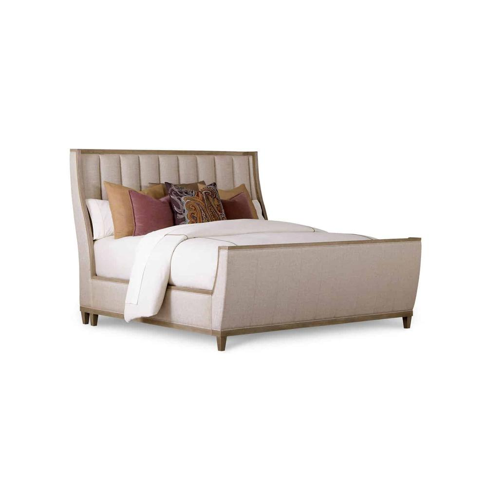 See Details - Cityscapes Queen Chelsea Upholstered Shelter Sleigh Bed